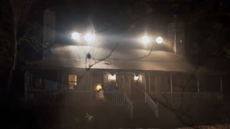 Laurie Strode's house with spotlights
