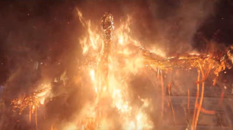 Molten Man-esque elemental villain in Spider-Man: Far From Home