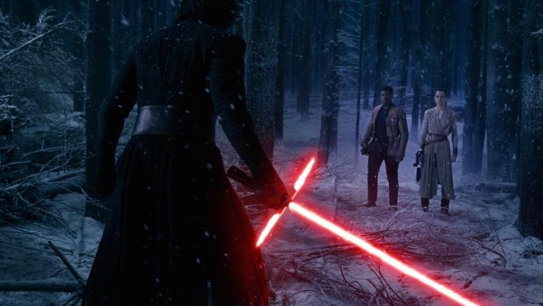 Kylo Ren, Finn, and Rey