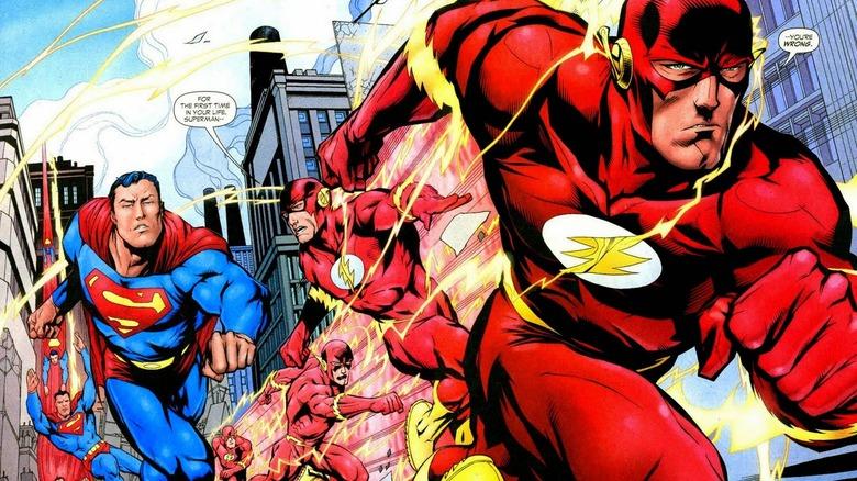 Flash racing Superman