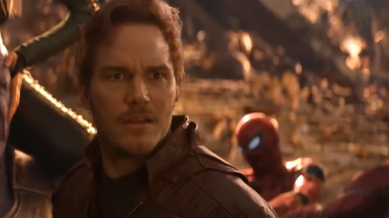 "Chris Pratt as Peter Quill/Star-Lord in ""Avengers: Infinity War"""