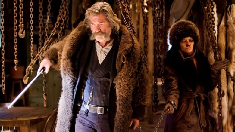 Kurt Russell and Jennifer Jason Leigh in The Hateful Eight