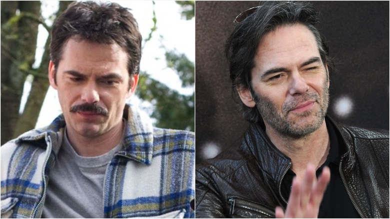 Billy Burke in Twilight (L) and on the Way Back red carpet (R)