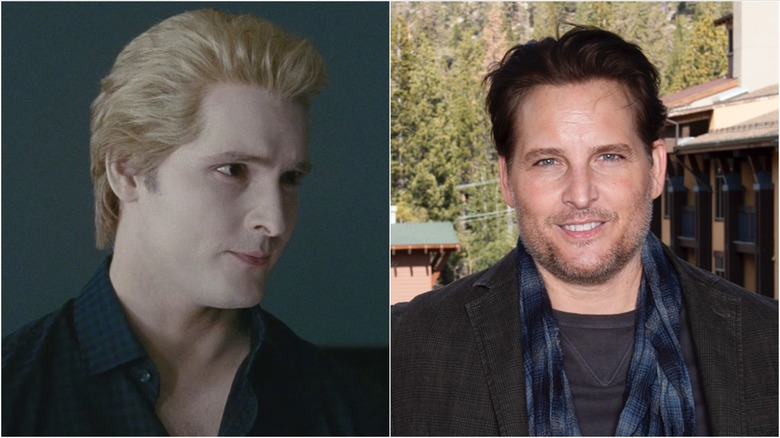 Peter Facinelli in Twilight (L) and in a 2020 press photo (R)