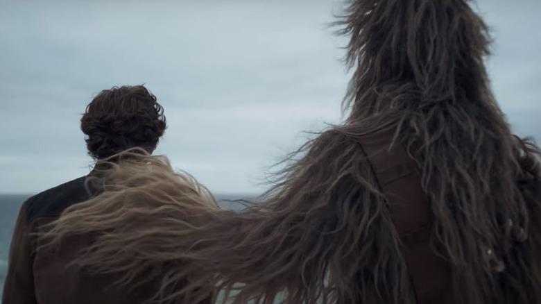 Alden Ehrenreich as Han Solo and Joonas Suotamo as Chewbacca