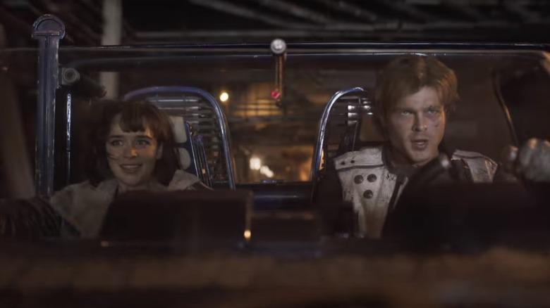 Alden Ehrenreich as Han Solo, Emilia Clarke as Qi'ra
