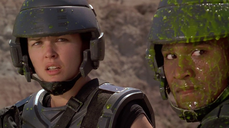 Starship Troopers covered in slime