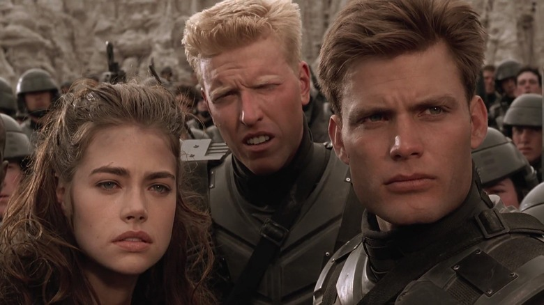 Starship Troopers cast together