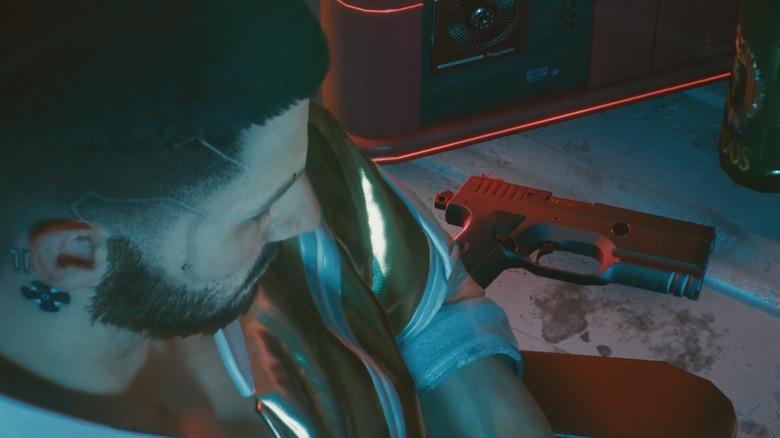 cyberpunk 2077 v gun
