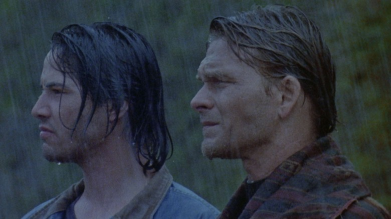 Keanu Reeves and Patrick Swayze in Point Break
