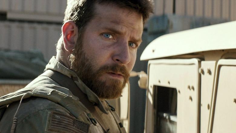 Bradley Cooper stares