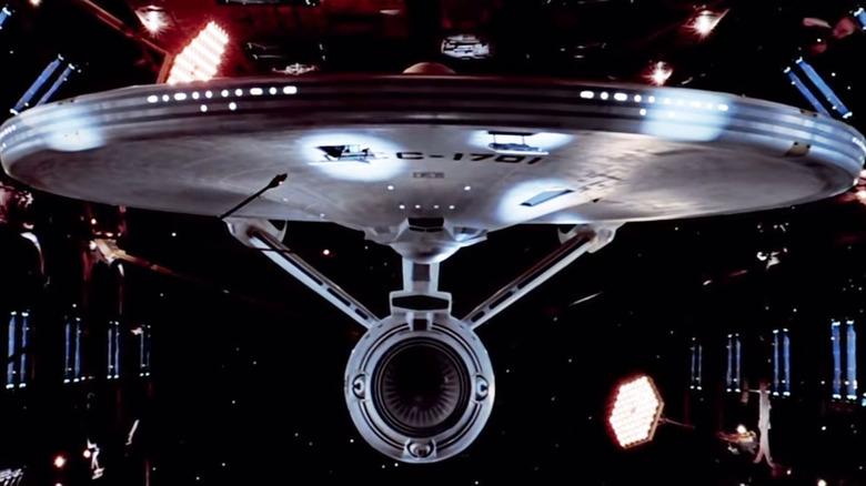 The Enterprise parked