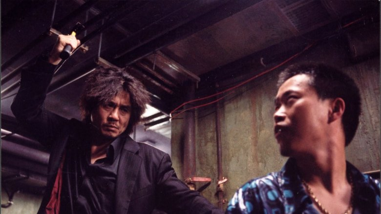 A scene from Oldboy.