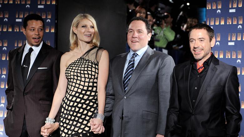 Terrence Howard, Gwyneth Paltrow, Jon Favreau, Robert Downey Jr.