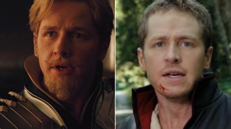 Split image of Josh Dallas as Fandral in Thor and Dallas as Prince Charming in Once Upon A Time