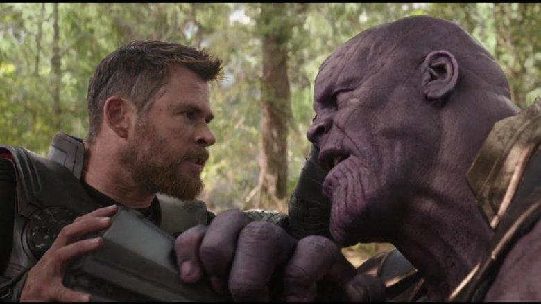 Chris Hemsworth and Josh Brolin in Avengers: Infinity War