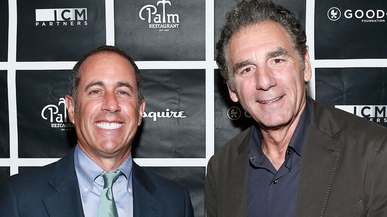 Jerry Seinfeld and Michael Richards