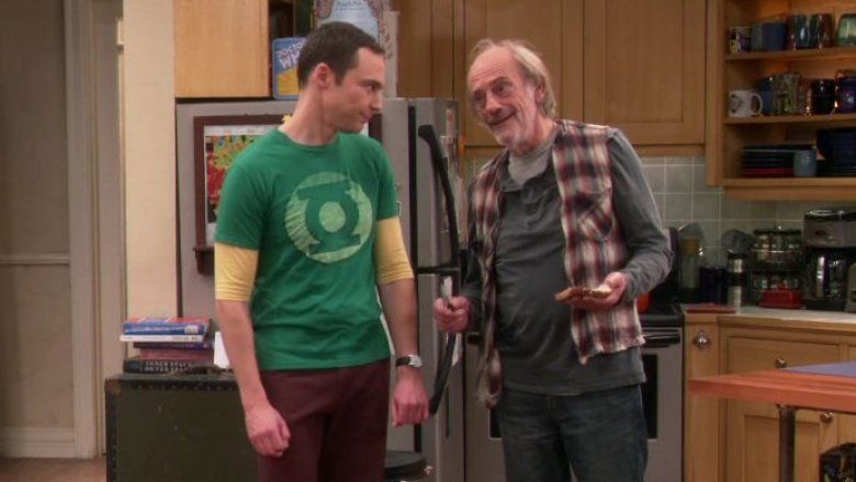 Jim Parsons and Christopher Lloyd in The Big Bang Theory
