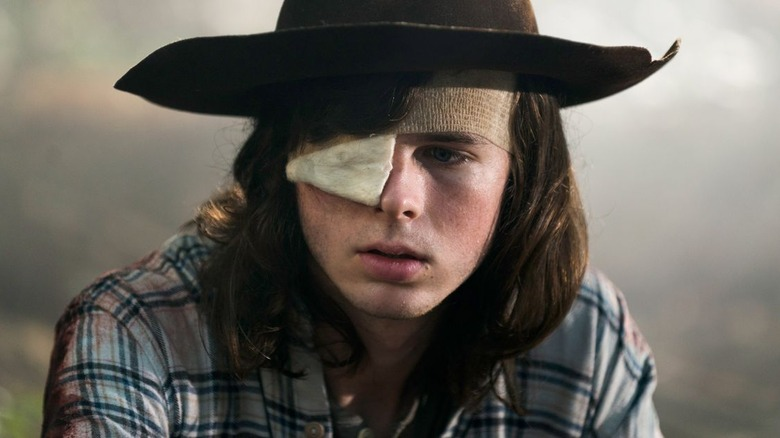 Chandler Riggs as Carl Grimes on The Walking Dead