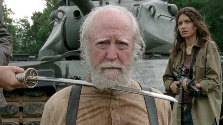 Scott Wilson as Hershel Greene on The Walking Dead
