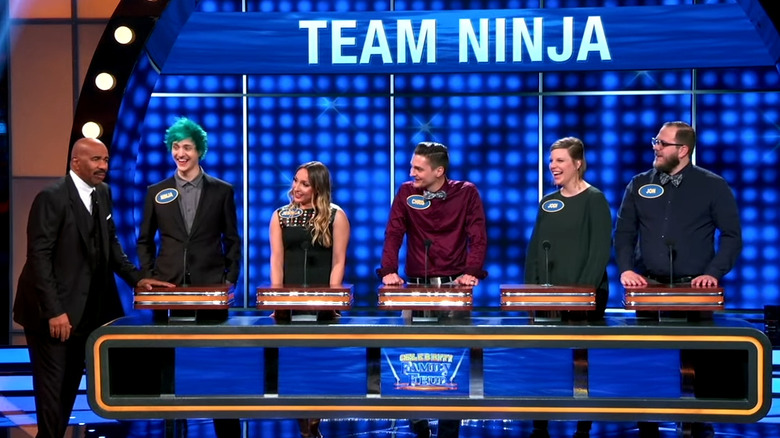 Ninja and his family appear on Celebrity Family Feud