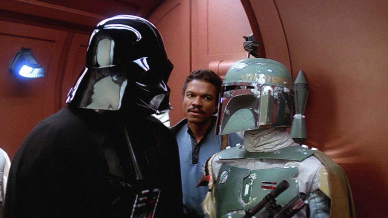 Darth Vader Lando Calrissian Boba Fett talking