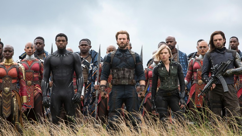 Captain America, Black Panther, and Black Widow
