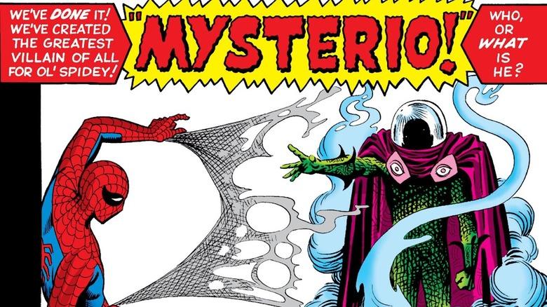 Spidey webbing Mysterio