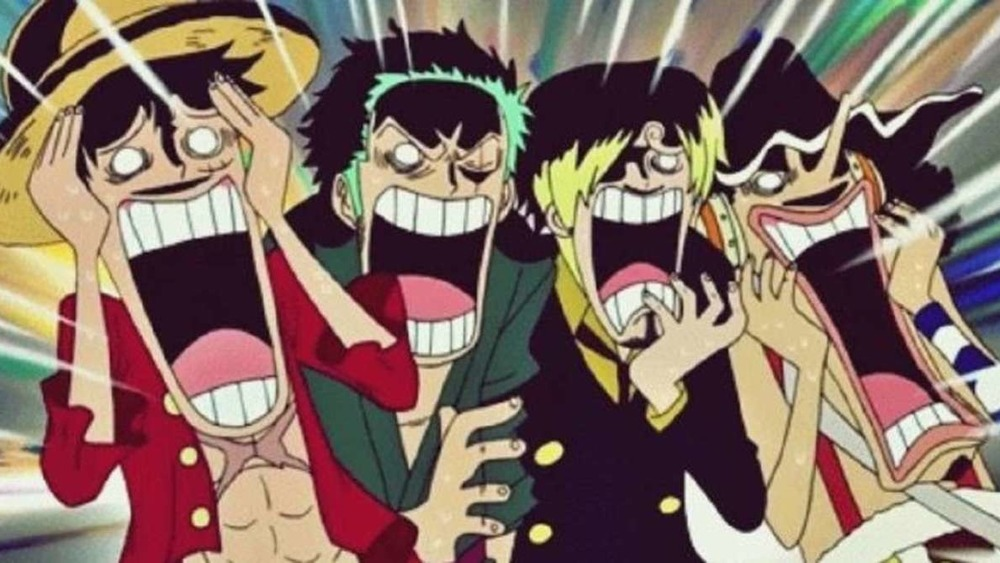 One Piece characters screaming