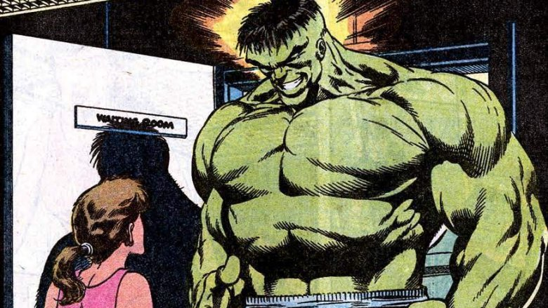 The fractured pieces of Banner's psyche battling the memory of early trauma in 1991's Incredible Hulk #377
