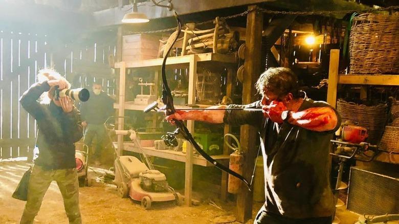 Sylvester Stallone on set of Rambo V