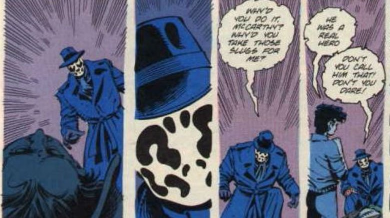 The Question dreaming of Rorschach in The Question #17