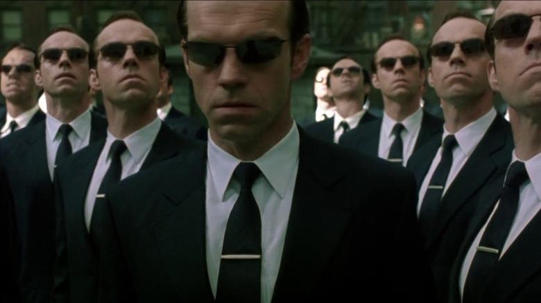 Hugo Weaving in The Matrix Reloaded
