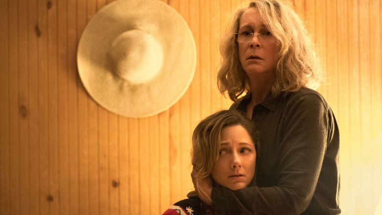 Jamie Lee Curtis and Judy Greer in Halloween