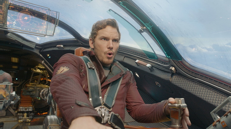 Star-Lord flying