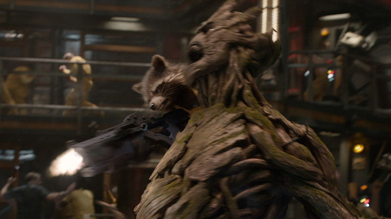 Groot and Rocket in Guardians of the Galaxy