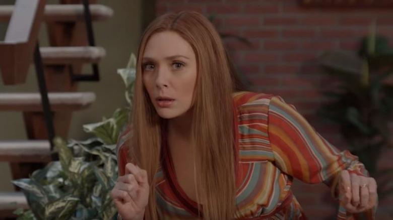 Elizabeth Olsen in WandaVision '70s episode