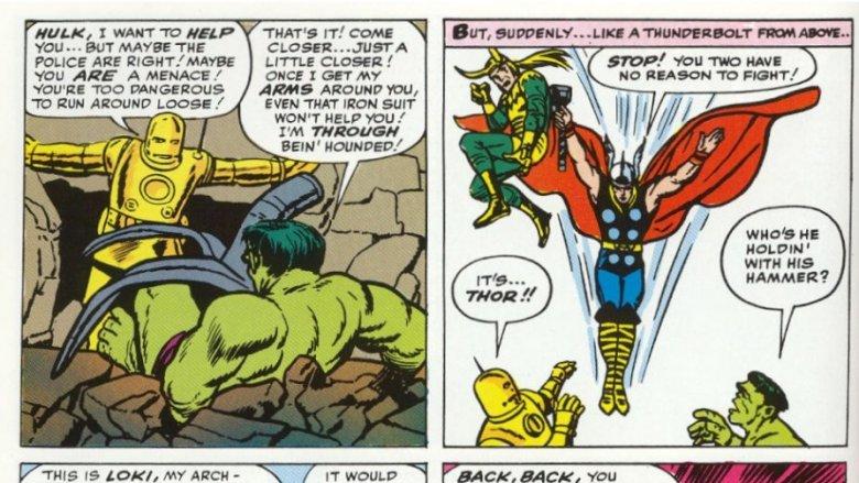 The Avengers vs. Hulk in Avengers #1