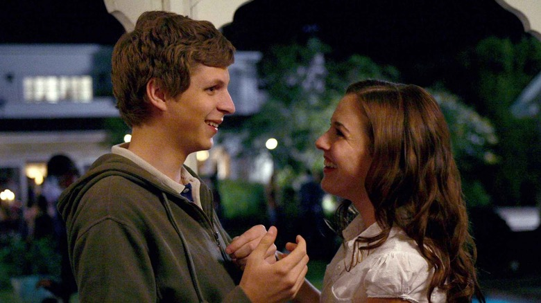 Michael Cera and Martha MacIsaac in Superbad
