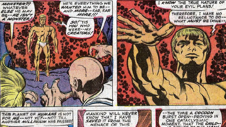 Adam Warlock in 1967's Fantastic Four #66