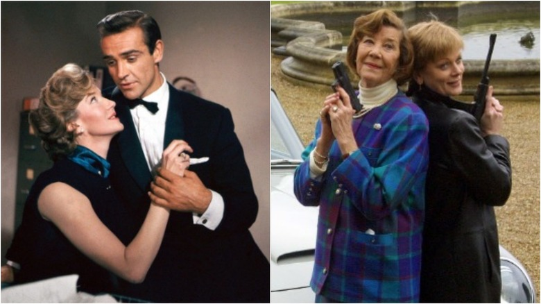 Lois Maxwell then and now