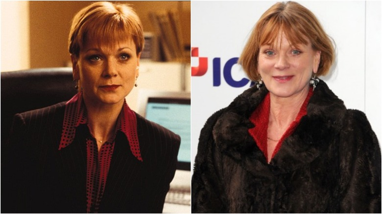 Samantha Bond then and now
