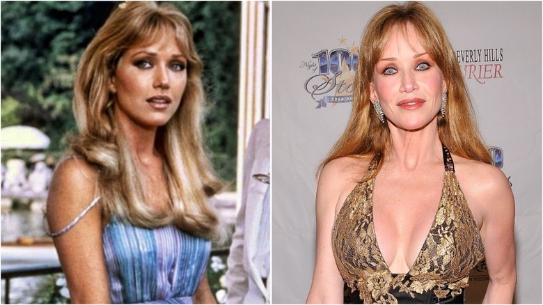 Tanya Roberts then and now