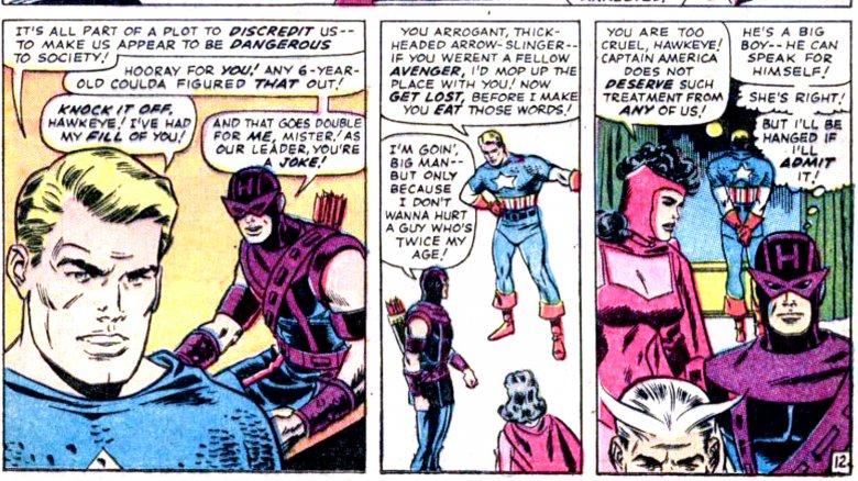 Hawkeye and Captain America