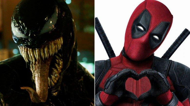 Split image of Venom and Deadpool