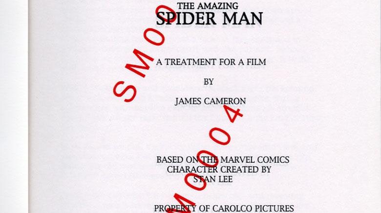James Cameron Spider-Man treatment
