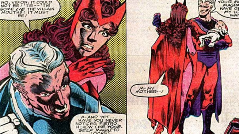 Quicksilver, Scarlet Witch, and Magneto