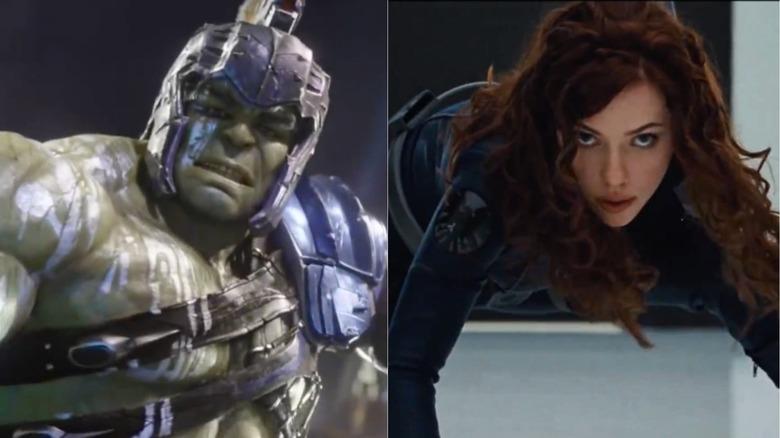 The Hulk and Black Widow