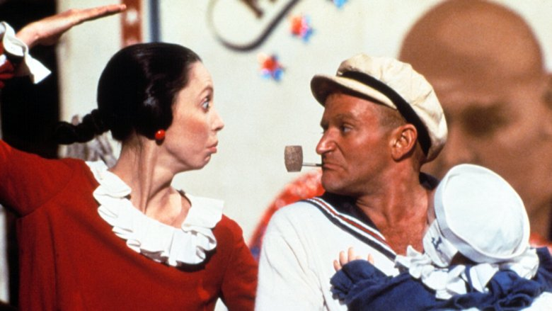 Shelley Duvall and Robin Williams in Popeye