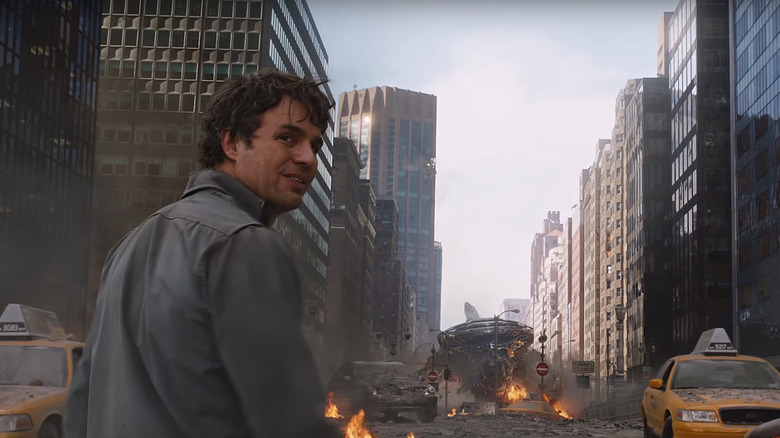Banner in the first Avengers movie
